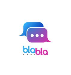 Chat logo social media talking isolated vector