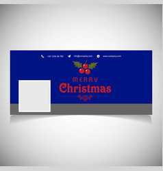 Christmas social media cover design vector