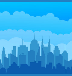 city silhouette modern concept vector image