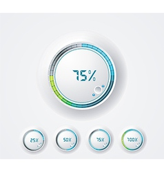 Clean round progress bar vector