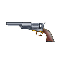 colt revolver pistol on white background vector image