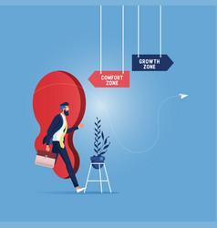 Comfort zone vs growth zone vector