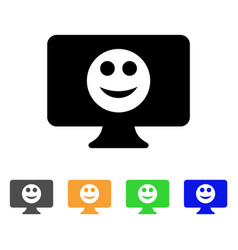 Display smile icon vector
