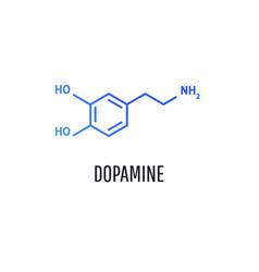 dopamine molecular formula icon vector image