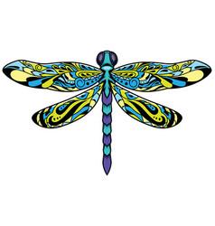 Dragonfly mascot symbol vector