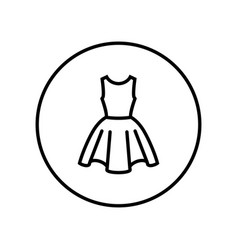 dress icon editable thin line vector image