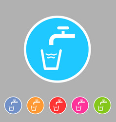 Drinking water point tap icon flat web sign symbol vector