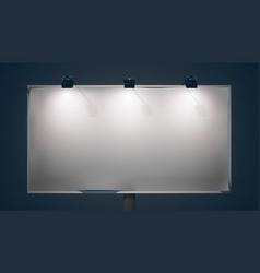 empty promo horizontal billboard vector image