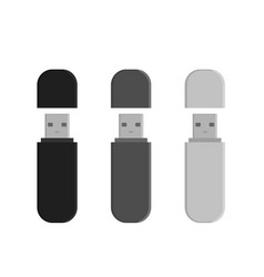 flash drive usb memory sticks vector image