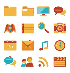 Flat icons set 4 vector image