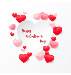 floating balloons and heart shaped paper cut vector image