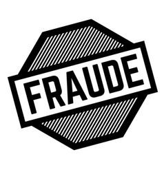 Fraud black stamp vector