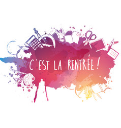French back to school background vector