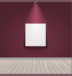 Gallery exhibition interior vector