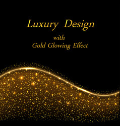 gold luxury design golden glowing sparkles on vector image