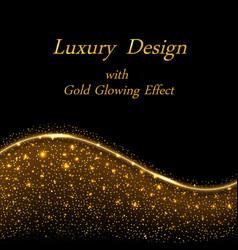 gold luxury design golden glowing sparkles vector image