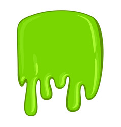 Green slime icon decorative sticky paint blob vector