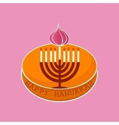 Hand sketched Happy Hanukkah logotype vector image