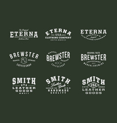 Handmade vintage logo insignia badges bundle vector
