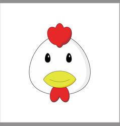 Head chicken emoticon vector