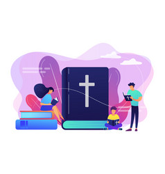 Holy bible concept vector