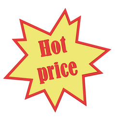 Hot price icon design isolated vector