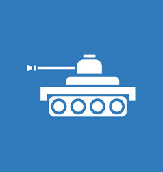 Icon army tank vector