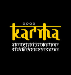Indian style font vector