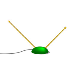 Indoor tv antenna in retro design vector