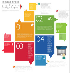 infographic modern design template 7 vector image