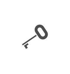 key flat icon isolated on white background vector image