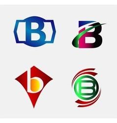 Letter B alphabet logo vector image vector image