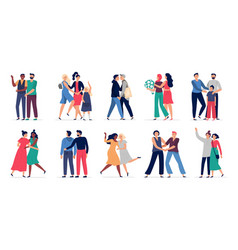 lgbt couples romantic gay couple date happy vector image