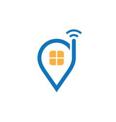 location home telecomunication logo vector image