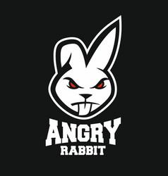Mascot angry rabbit logo vector
