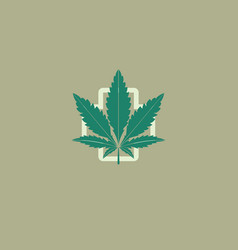 Medical marijuana leaf logo design template vector