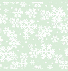 mint green christmas snowflakes repeat pattern vector image