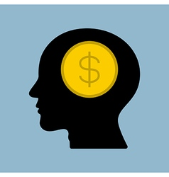 money thinking vector image
