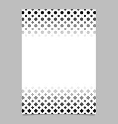 monochrome geometrical halftone pattern poster vector image