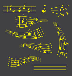 Music notes song melody or tune flat icon for vector