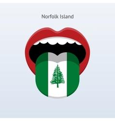 Norfolk Island language Abstract human tongue vector image