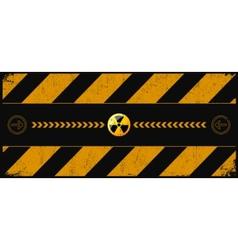 nuclear dangerund vector image