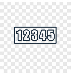 Numbers concept linear icon isolated on vector