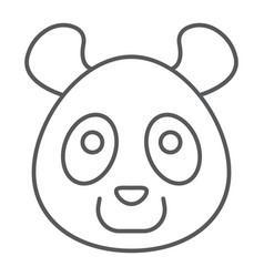 panda thin line icon animal and zoo vector image