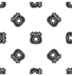 Police badges icon vector