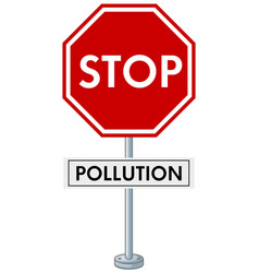 Poster design with stop pollution vector