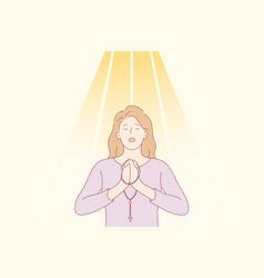 Praying god religion forgiveness christianity vector
