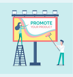 promote your product advertisement on billboard vector image