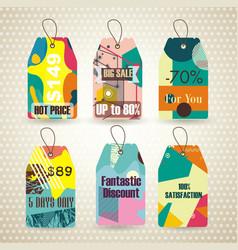 sale tags retro design sale badges vector image
