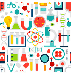 science laboratory seamless pattern vector image
